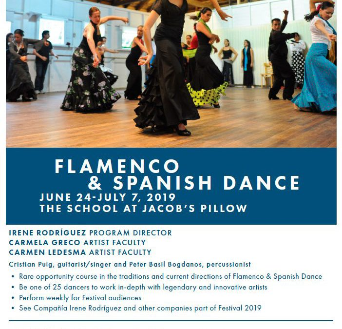 PROGRAMA DE FLAMENCO DEL JACOB'S PILLOW DANCE FESTIVAL 2019